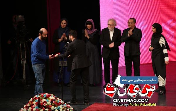 علی مصفا برنده دیپلم افتخار بهترین بازیگر مردم در مراسم اختتامیه سی و هفتمین جشنواره جهانی فیلم فجر / عکس: پریسا فیض الهی