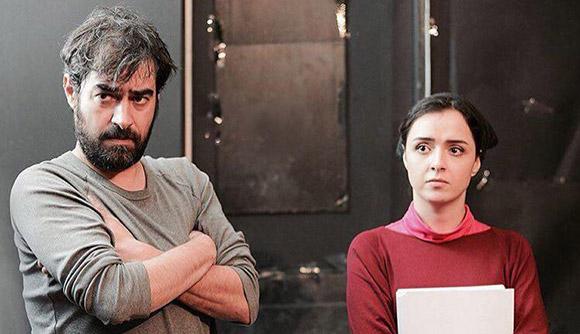 ترانه علیدوستی و شهاب حسینی در نمایی از پشت صحنه فیلم