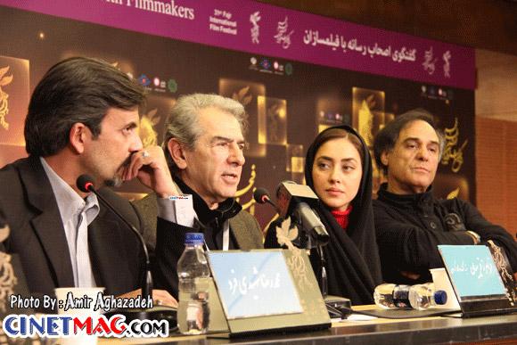 قطب الدین صادقی، بهاره کیان افشار، فرامرز قریبیان و محمدرضا شهیدی فرد در نشست خبری فیلم