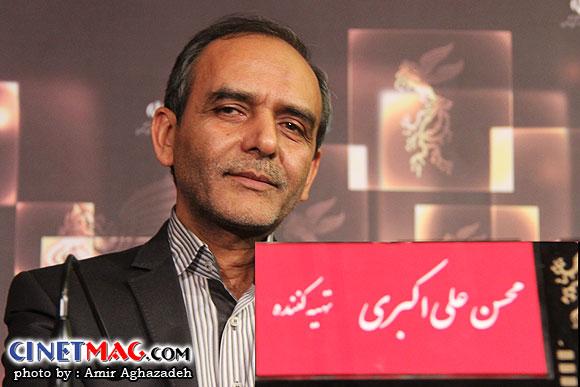 محسن علی اکبری در نشست پرسش و پاسخ فیلم