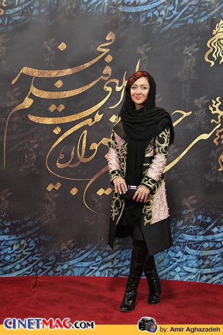 نیکی کریمی - استقبال از هنرمندان در مراسم اختتامیه جشنواره سی و دوم فیلم فجر