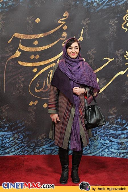 هانیه توسلی - استقبال از هنرمندان در مراسم اختتامیه جشنواره سی و دوم فیلم فجر