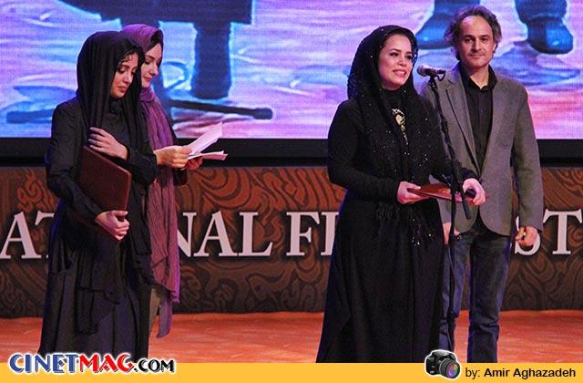 ملیکا شریفی نیا برنده دیپلم افتخار بازیگر نقش مکمل زن برای بازی در