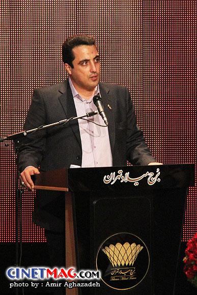 محمدرضا عباسیان (دبیر جشنواره) در مراسم اختتامیه سی و یکمین جشنواره فیلم فجر - سالن همایش های برج میلاد - 22 بهمن 91