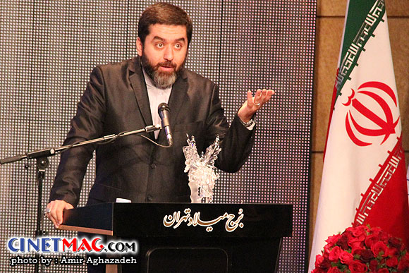 محمود رضوی (تهیه کننده فیلم دهلیز) مراسم اختتامیه سی و یکمین جشنواره فیلم فجر - سالن همایش های برج میلاد - 22 بهمن 91