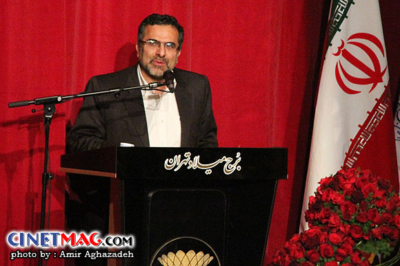 جواد شمقدری در مراسم اختتامیه سی و یکمین جشنواره فیلم فجر - سالن همایش های برج میلاد - 22 بهمن 91