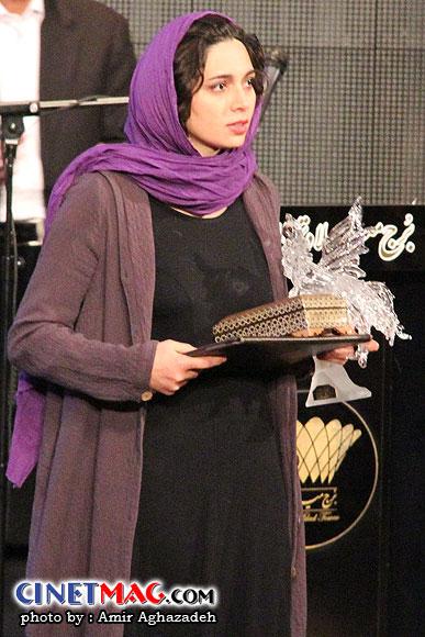 پگاه آهنگرانی (بهترین بازیگر مکمل زن) - مراسم اختتامیه سی و یکمین جشنواره فیلم فجر - سالن همایش های برج میلاد - 22 بهمن 91