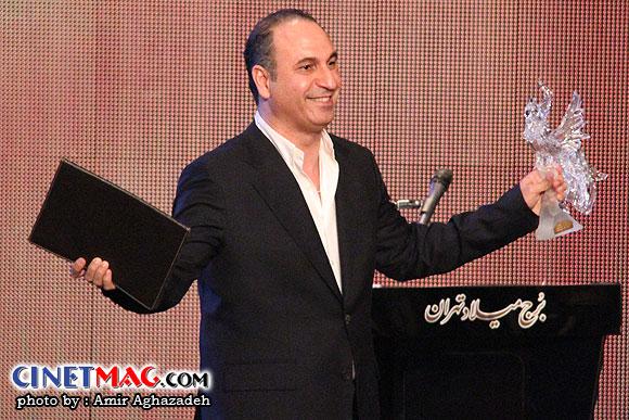 حمید فرخ نژاد (بهرین بازیگر نقش اول مرد) - مراسم اختتامیه سی و یکمین جشنواره فیلم فجر - سالن همایش های برج میلاد - 22 بهمن 91