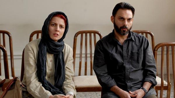 پیمان معادی و لیلا حاتمی در نمایی از فیلم «جدایی نادر از سیمین»
