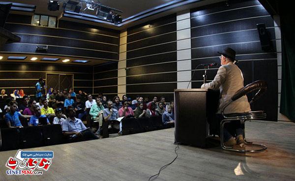 اولین روز کارگاه های سینمای حرفه ای با موضوع فیلمنامه نویسی با حضور استاد کامبوزیا پرتوی  - شهر سنقر، کرمانشاه