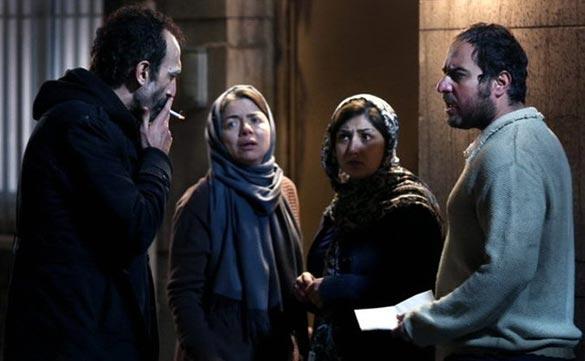 هادی حجازی فر، مهتاب نصیرپور، باران کوثری و محسن کیایی در نمایی از فیلم سینمایی