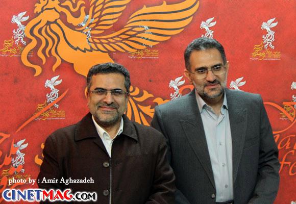 محمد حسینی ، جواد شمقدری - مراسم افتتاحیه سی و یکمین جشنواره فیلم فجر - 11 بهمن 91