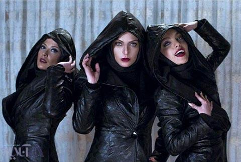 از چپ به راست: طناز طباطبایی، مهناز افشار و آیدا ماهیانی در فیلم