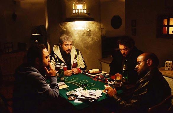 بهرام رادان، محسن کیایی، سعید چنگیزیان و بابک بهشاد در نمایی از فیلم سینمایی