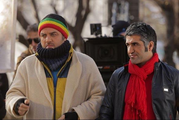 پژمان جمشیدی و سام درخشانی در فیلم سینمایی
