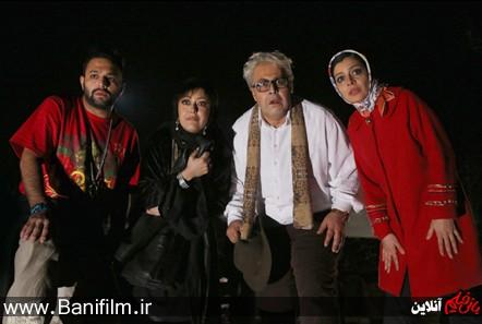 ساره بیات، فرهاد اصلانی، شقایق فرهانی و صابر ابر در نمایی از فیلم