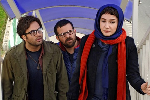 هانیه توسلی،  هومن سیدی و مصطفی زمانی در نمایی از فیلم