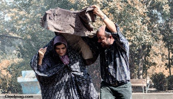 سعید آقاخانی و ساره بیات در نمایی از فیلم
