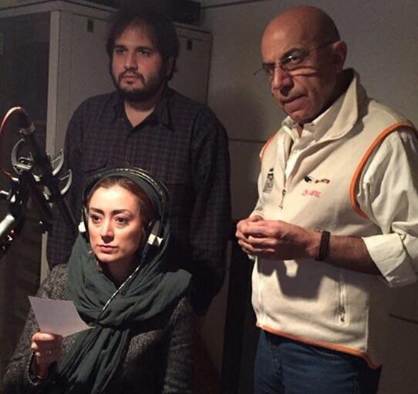 رضا درمیشیان، محمدرضا دلپاک و مریم پالیزان در پشت صحنه فیلم سینمایی