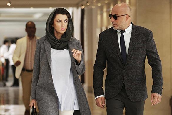 امیر آقایی و لیلا حاتمی در نمایی از فیلم سینمایی