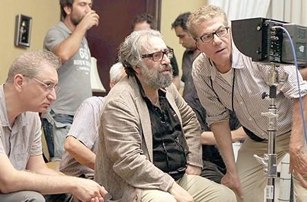 علیرضا زرین دست و مسعود کیمیایی در پشت صحنه فیلم