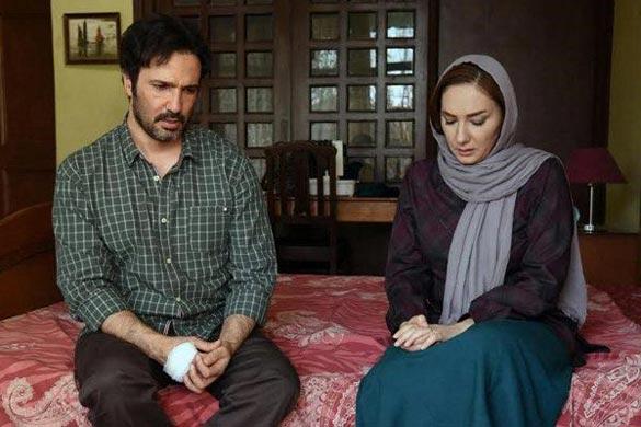 هانیه توسلی و محمد رضا فروتن در نمایی از فیلم سینمایی