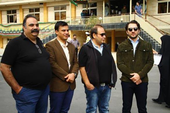 بهرام رادان، رضا داوودنژاد، احمد احمدی و علی کاظمی در مراسم امحای محصولات قاچاق