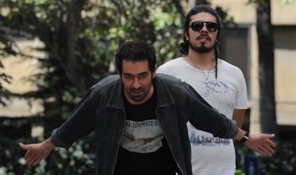 شهاب حسینی و فرید سمواتی در پشت صحنه فیلم
