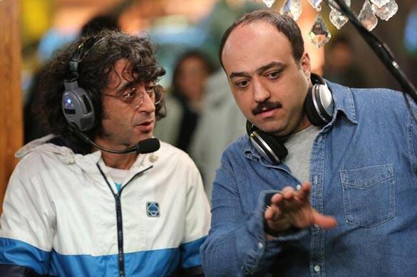 مجید توکلی و تورج اصلانی در فیلم «روزی دو میلیون»
