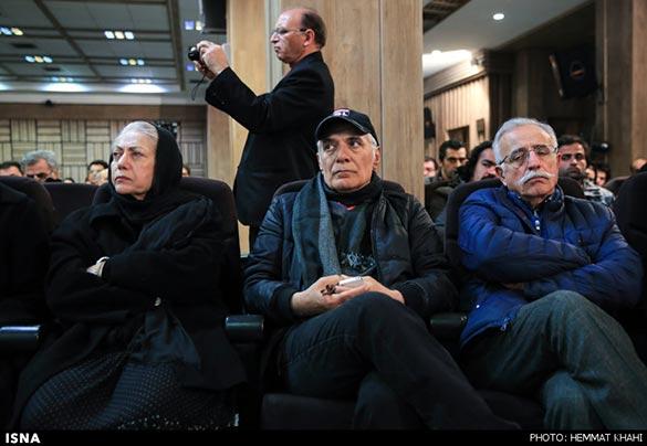 عبدالله اسکندری، محمود کلاری و رخشان بنی اعتماد در مراسم یادبود یدالله نجفی