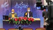 محمدمهدی طباطبایینژاد، دبیر و مسعود نجفی مدیر روابط عمومی جشنواره سی و نهم فیلم فجر